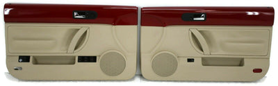 2003-2010 VW Beetle Convertible Passenger & Driver Side Door Panels Red & Beige