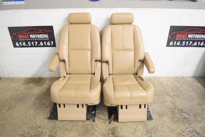 2007 - 2014 (COMPACT) ESCALADE TAHO YUKON CASHMERE LEATHER SEATS (PAIR) OEM