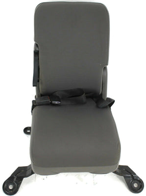 1999-2010 Ford F250 F350 Front Center Console Jump Seat W/ Cup Holder Gray