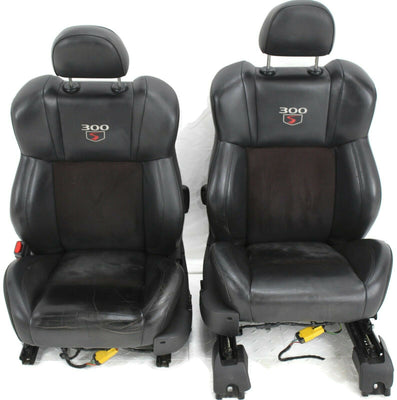11-14 Chrysler 300 S Front & Rear Seats Leather Black full seat
