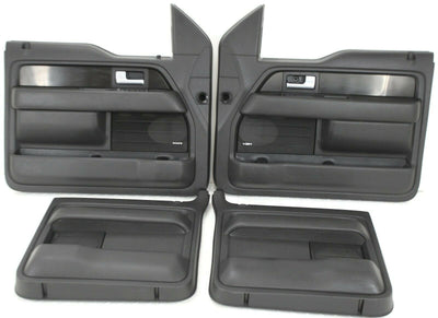 2007-2014 Ford F150 Front & Rear Driver/ Passenger Side Door Panel Black