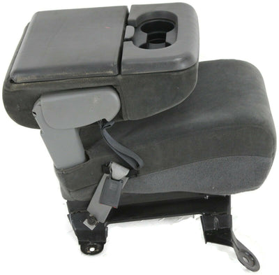 1999-2010 Ford F250 F350 Front Center Console Jump Seat W/ Cup Holder Dark Gray