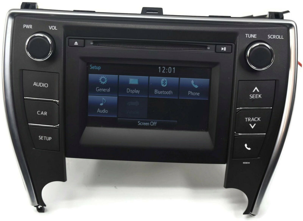 2016-2017 TOYOTA CAMRY STEREO RADIO CD PLAYER TOUCH SCREEN