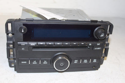 CHEVY IMPALA 2009 RADIO AM/FM AUX INPUT CD PLAYER 25980720