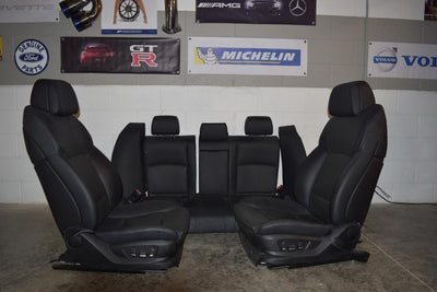 11 -17 BMW 550I M SPORT SEATS 18 WAY ADJUSTABLE W/ACTIVE LEATHER BLK OEM