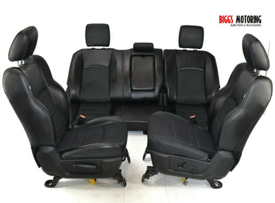2013-2018 Dodge Ram Front & Rear Left & Right Leather Seat Set Black