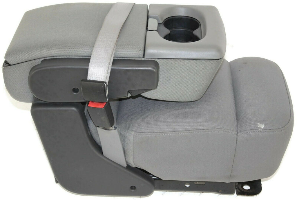 2004 2008 Ford F150 Front Center Console Jump Seat W Cup Holder Gray