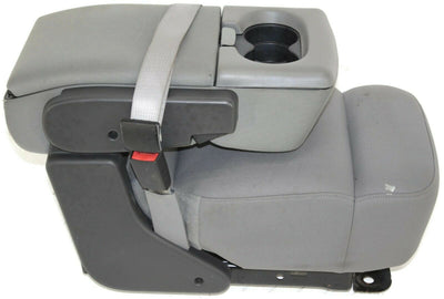 2004-2008  Ford F150  Front Center Console Jump Seat W/ Cup Holder Gray
