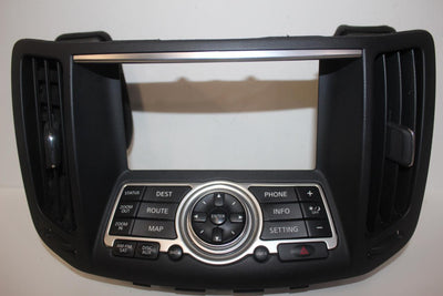 2007-2013 INFINITI G35 G37 CENTER DASH NAVIGATION CONTROL PANEL 28395-JK65B