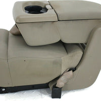 2004-2008  Ford F150  Front Center Console Jump Seat W/ Cup Holder Tan