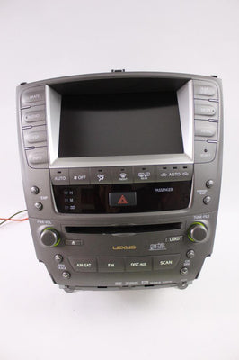 2006-2009 LEXUS IS250 IS350 NAVIGATION RADIO MONITOR SCREEN P6500 86111-53060