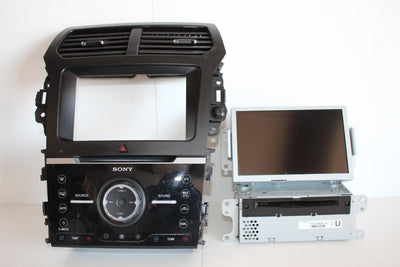14- 15 FORD EXPLORER navi RADIO FACE DISPLAY SCREEN CD MECHANISM PLAYER 5 PIECES
