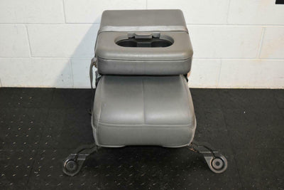 1999-2010 FORD F250 F350 FRONT JUMP SEAT GREY LEATHER 08-10 STYLE