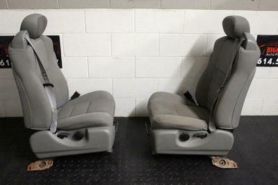 99-10 FORD F250 F350 FRONT JUMP SEATS GREY CLOTH 2005 RIGHT& LEFT