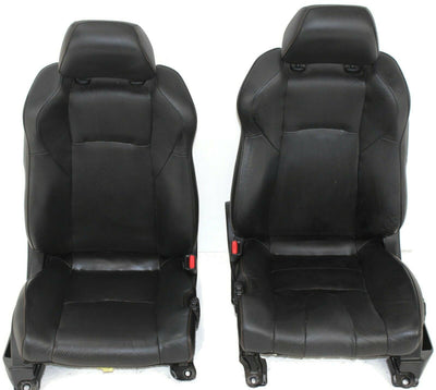 2003-2007 Nissan 350Z Front Driver & Passenger Side Seat Black Leather
