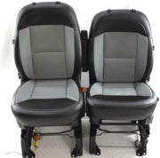 14-18 Dodge Promaster Cargo Van Front Seats With Air Bag Bucket Black/Grey Pair