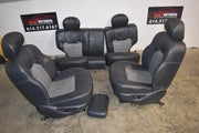 1999-2004 Jeep Grand Cherokee Ltd & Overland Complete Seat Set Gray Leather Oem