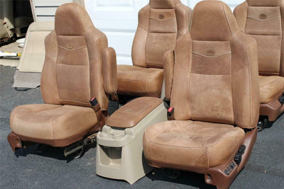 99-2010 FORD F250 F350 KING RANCH LEATHER SEATS BUCKETS NICE CREW CAB 2006 ALL