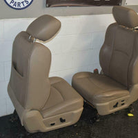 09-15 Dodge Ram Power Tan Leather Heat Air Cooled Driver Seat Complete W/ Track