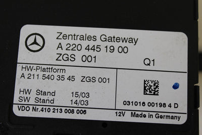 2003-2006 MERCEDES BENZ SL500 R230 GATEWAY DIAGNOSTUC CONTROL MODULE