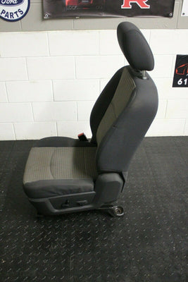 09-16 Dodge Ram Power 2 Tone Tan /Black Cloth Driver Seat Complete W/ Track