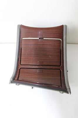 01-02 Cadillac Escalade Center Console Cup Holder & Ash Tray Woodgrain Trim Tan