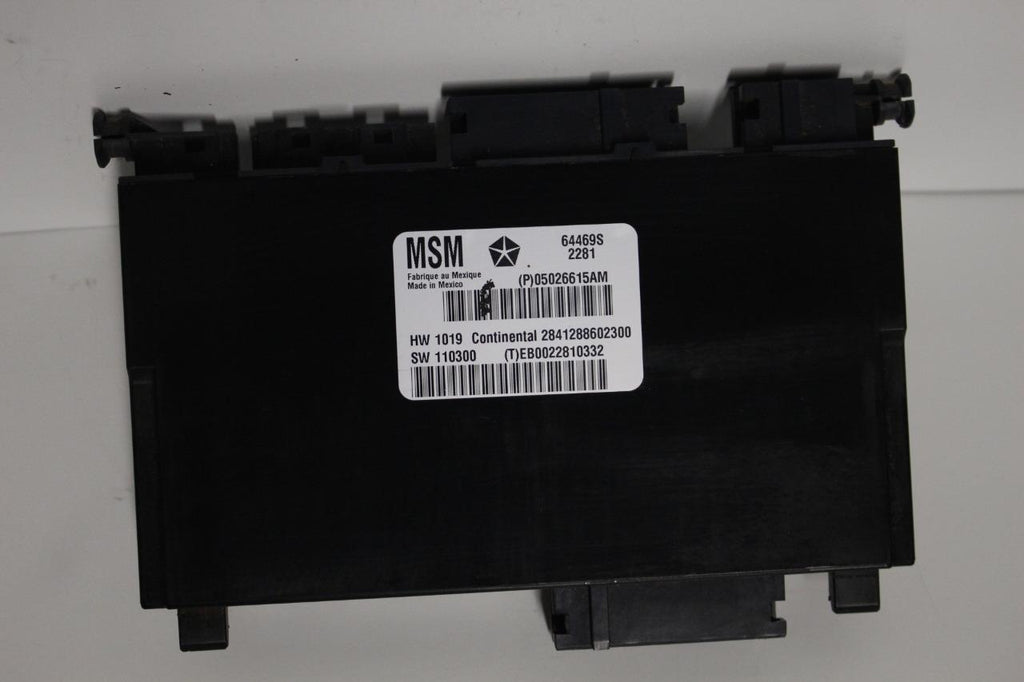 2011-2013 DODGE JEEP GRAND CHEROKEE FRONT DRIVER SIDE SEAT MODULE