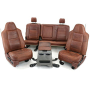 2008-2010 Ford F250 King Ranch Front & Rear Seat Set W/ Center Console -will fit 99-10 Superduty