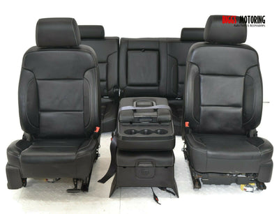 2014-2019 Chevy Silverado Front & Rear Passenger/ Driver Side W Center Jump Seat