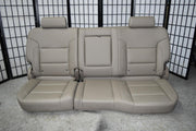 14-18 SILVERADO SIERRA TAN LEATHER REAR SEAT CREW CAB W/ CUP HOLDER 60/40 FOLD