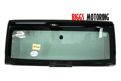 2007-2013 Jeep Wrangler Front Windshield Glass & Frame Glass  Black