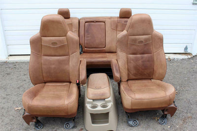 99-2010 FORD F250 F350 KING RANCH LEATHER SEATS BUCKETS NICE CREW CAB 2006 #35