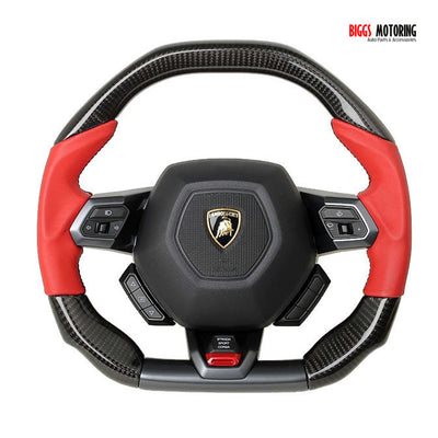 15-18 Lamborghini 610-4 Huracan Carbon Fiber Steering Wheel upgraded Leather