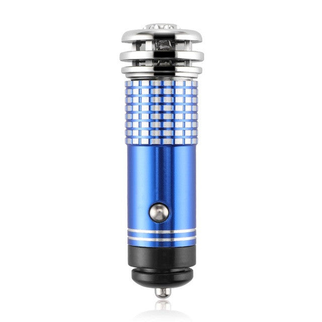 Onever Mini Car Air Purifier Oxygen Bar Ionizer Interior with LED Blue Light Car Decoration