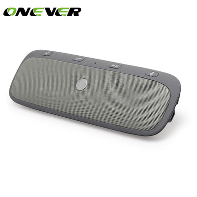 Onever Car Bluetooth Speakerphone Hands-free Car Kit Wireless Sunvisor Car Speaker Player Support Private Talk with Car Charger