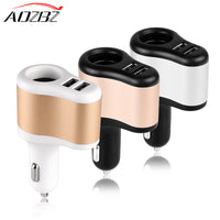AOZBZ 2 USB Car Cigarette Lighter Splitter Socket Adapter Charger 3.1A 12~24V Cigarette Lighter Socket 2.1cm / 0.8