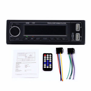 Car Auto MP3 USB AUX Player Dual USB Charging Support Radio Bluetooth Secure Digital Memory Card Function