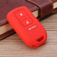 3 Buttons Silicone Car Key Case Cover Keys Shell Fob Holder For Honda/Accord Crosstour 2015 2016 2017
