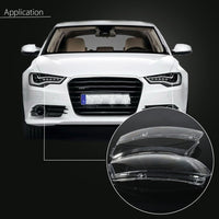 Pair Car Auto Headlight Lampcover Lampshade Waterproof Bright Shell Cover For Audi A6 C6 Car Lamp Shade