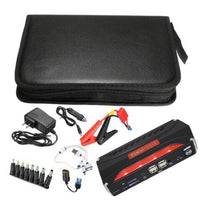 Jump Starter 68800mAh 4 USB Car Power Supply Rechargeable Power Bank Battery