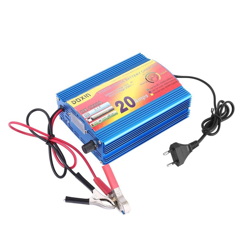 Intelligent Battery Charger 20A Three Stage Lead-acid Battery Charger