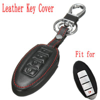 4 Buttons PU Leather Car Remote Smart Key Case Cover Keys Shell Protector For Nissan Altima Maxima GTR
