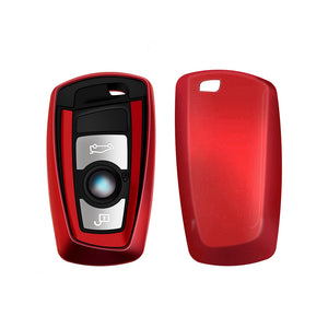 Key Fob Case Button for BMW Motor Red