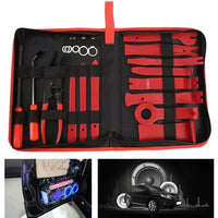 19Pcs Plastic Car Radio Door Clip Panel Trim Dash Audio Removal Pry Kit Tool Set