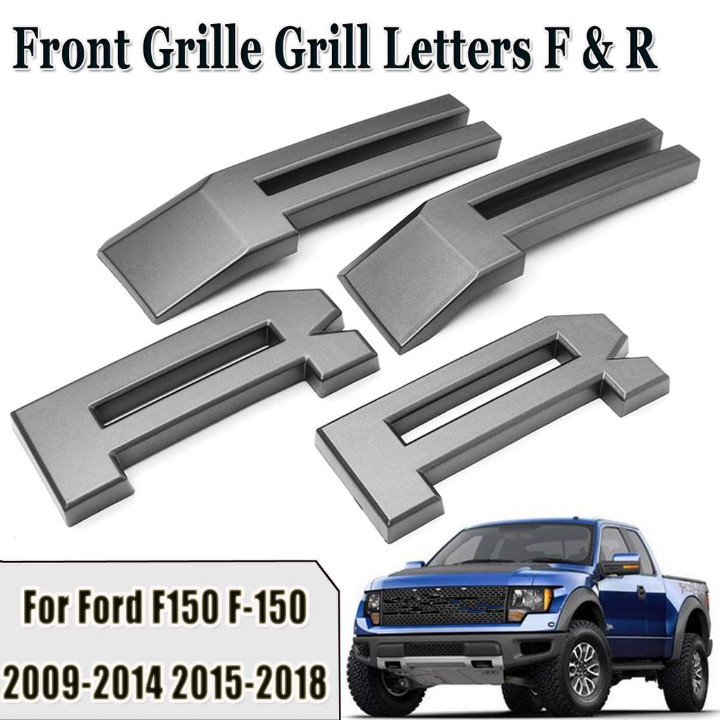 Raptor Style Car Front Grille Grill Letters F R For Ford F150 F 150 2009 2010 2011 2012 2013 2014 2015 2016 2017 2018