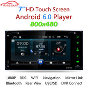 HD Dual-core 2 Din Android 6.0 Universal Car Radio Double Car DVD Player GPS Navigation In Dash Car DVD FM/AM Bluetooth Player