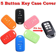 Silicone 5 Buttons Keyless Smart Key Case Cover Keys Fob for Honda for Civic for Accord for Pilot 2015 2016 2017