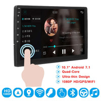 "For Android 7.1 Car Multimedia GPS Bluetooth WIFI Stereo 10.1"" 2 din HD Navigation Audio MP5 Player Car Radio Multimedia"