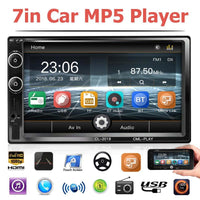 "Car Radio 7"" HD Touch Screen MP5 Audio Stereo Bluetooth Video Multimedia Player Car Rear View Camera TF USB FM Head Unit New"