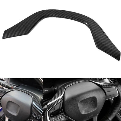 Carbon Fiber Interior Steering Wheel Frame Cover Trim Fit For Honda Accord 2018
